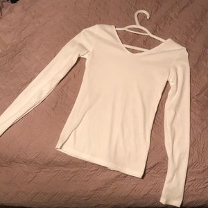 Tops - long sleeve while shirt